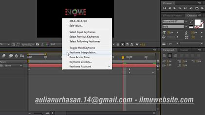 website membuat opening video membuat flying titles opening film di after effects