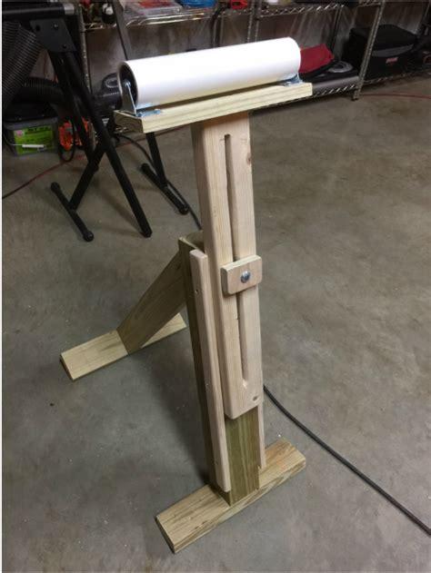 roller stands for woodworking custom adjustable pvc roller stand indianaworkshopjones