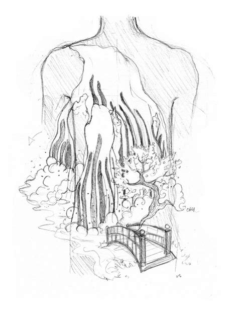 japanese waterfall tattoo designs gudu ngiseng japanese sketches