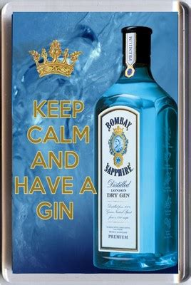 Sale Magnet Bombay Kecil keep calm and a gin with bombay sapphire image fridge magnet unique gift
