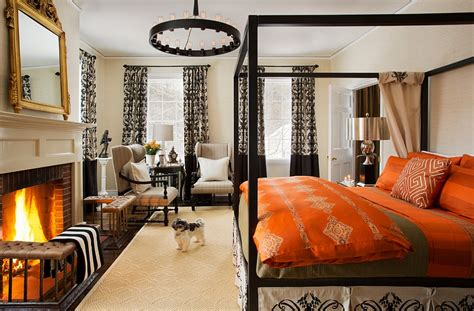 orange and black bedroom ideas orange and black interiors living rooms bedrooms and