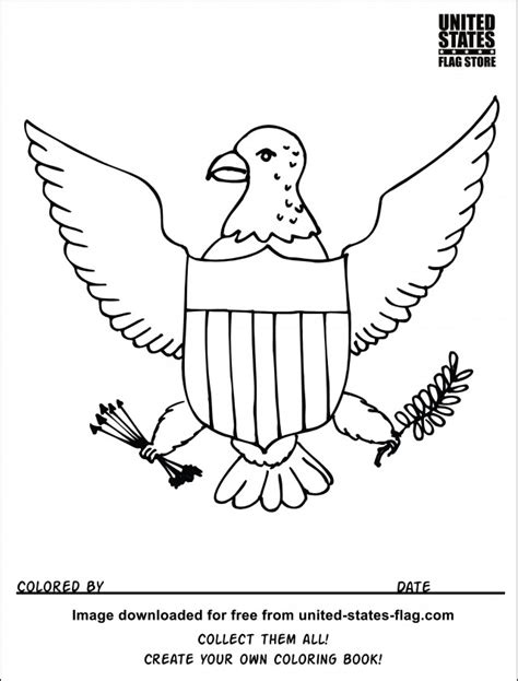 mexican eagle coloring page mexican golden eagle drawing