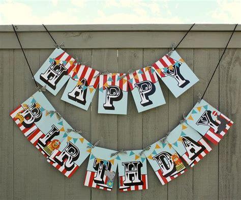printable circus birthday banner happy birthday party circus carnival banner printable diy