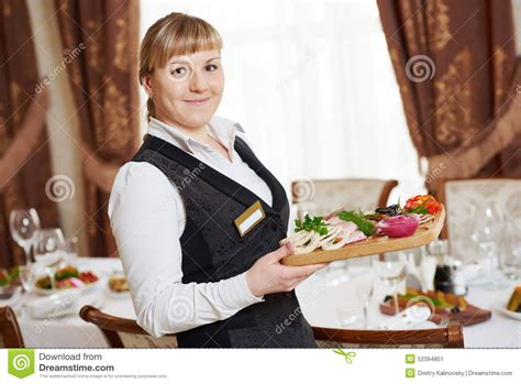 waitress at catering work in a restaurant stock photo image 52394851