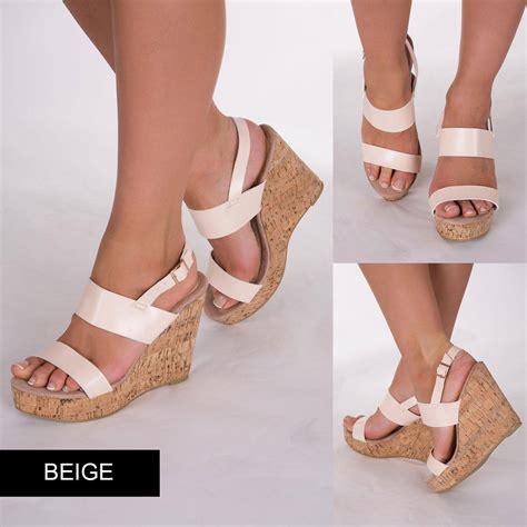 Wedges T 1 3 8 Hitam Limited new platform mule cork wedge sandal high heel shoe size 3 4 5 6 7 8