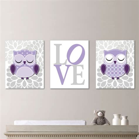Owl Wall Decor For Nursery Baby Nursery Prints Owl Nursery Decor Wall