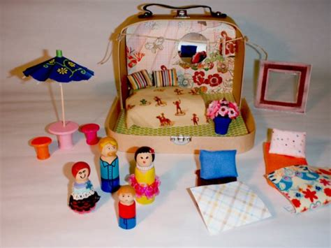 tiny doll houses tiny suitcase dollhouse noelle o designs