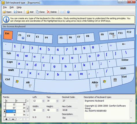 keyboard layout software comfort software on screen keyboard for windows