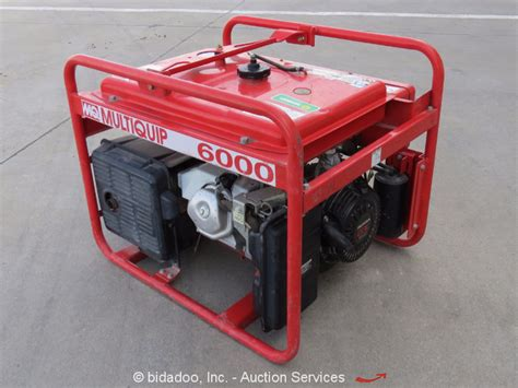 2011 multiquip ga 6ha 6kw 6000 watt generator portable