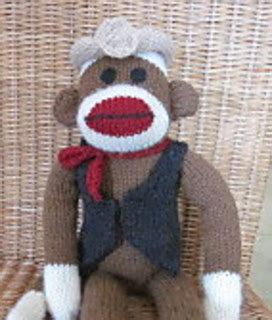 clothes pattern for sock monkey ravelry machine knit sock monkey clothes cowboy pattern