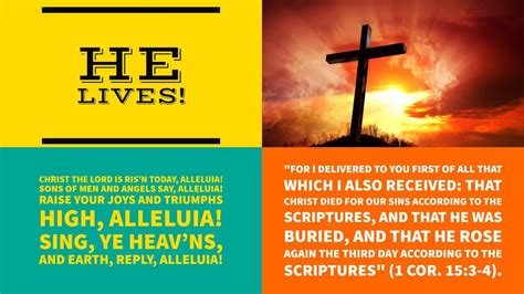 Attractive New Creation Church Daily Devotional #3: He-lives_orig.jpg