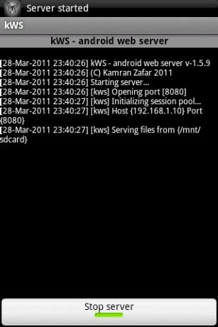 android server kws android web server for android appszoom