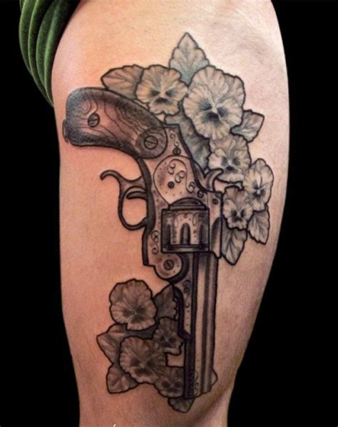 tattoo flower gun 137 fantastic gun tattoos that hit their mark tattoos