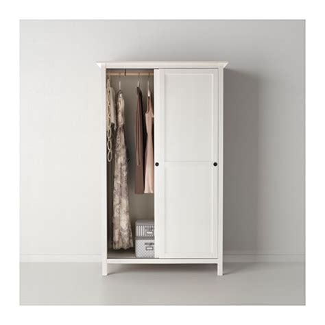 Hemnes Armoire by Hemnes Wardrobe With 2 Sliding Doors White Stain 120x197