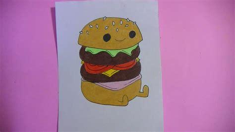 imagenes kawaii de comida para dibujar como dibujar pintar hambuerguesa kawaii semana comida