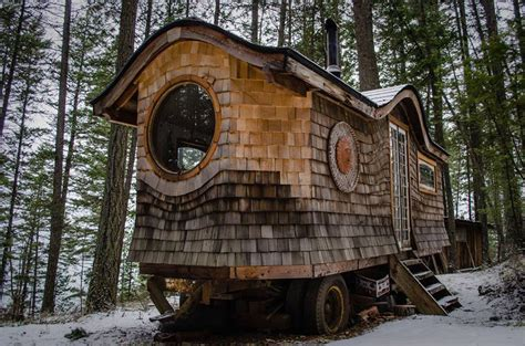 gypsy tiny house gypsy wagon in the woods tiny house swoon