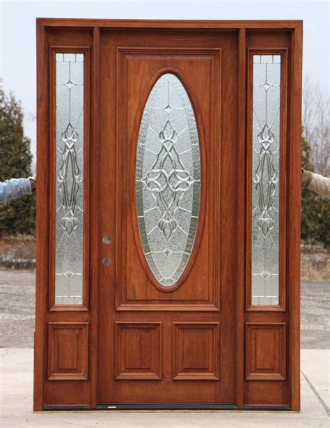 Mahogany Front Door With Glass by 8 0 Quot Mahogany Front Door And Sidelights