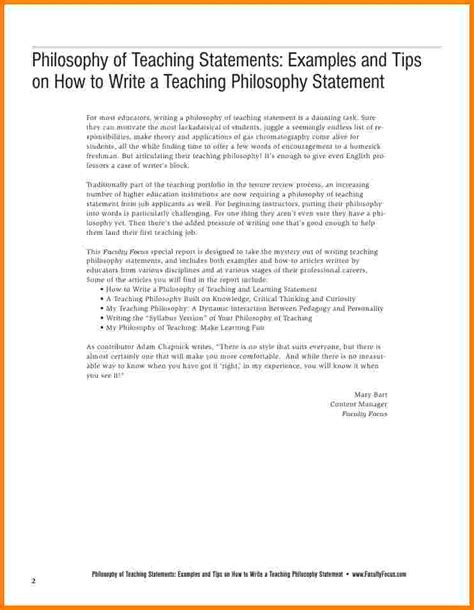 9 Teaching Philosophy Statement Exles Case Statement 2017 Teaching Philosophy Template
