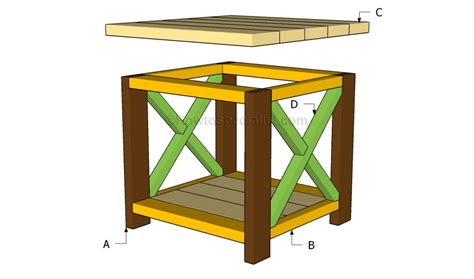 how to build an end table with a drawer end table plans howtospecialist how to build by