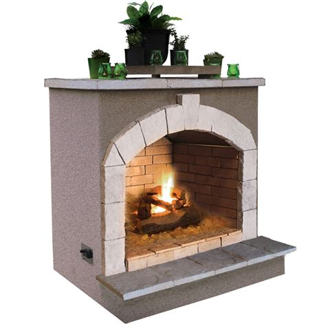 Outdoor Gas Fireplace Lowes by Shop Cal 55 000 Btu Beige Composite Outdoor Liquid