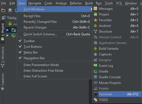android studio terminal tutorial android googleservice failed to initialize because of