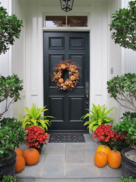 Autumn Front Door Decorations Ciao Domenica Welcome Autumn