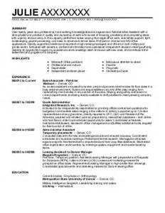 engineering marketing administrative assistant resume