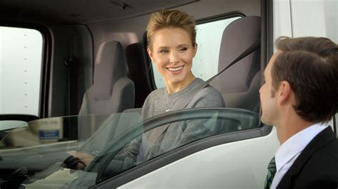 car commercial girl short blond hair big trucks are kristen bell s jam adpulp