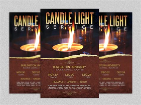 sample flyers for marketing candle light service flyer template flyer templates on