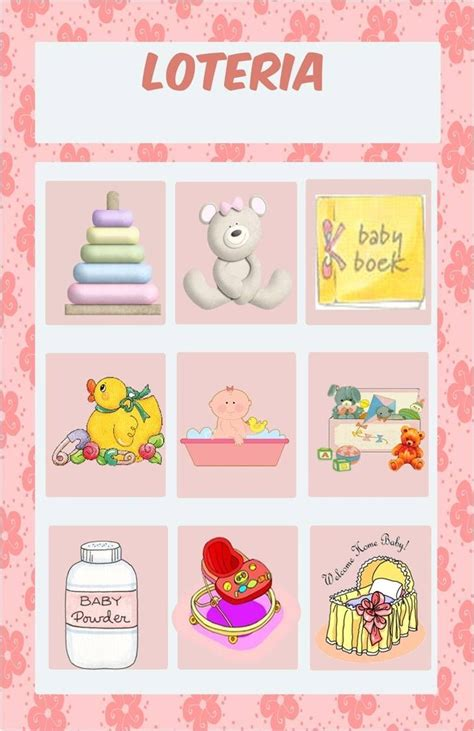 Loteria Baby Shower Pdf by Loterias Para Baby Shower Gratis Imagui