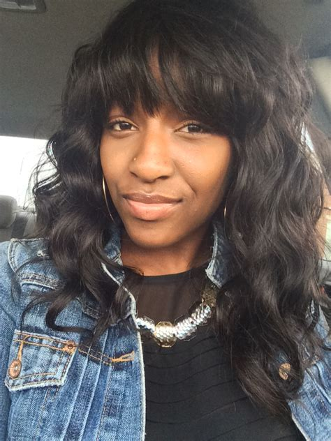 wavy full sew in curly sew in bangs hairstylegalleries com