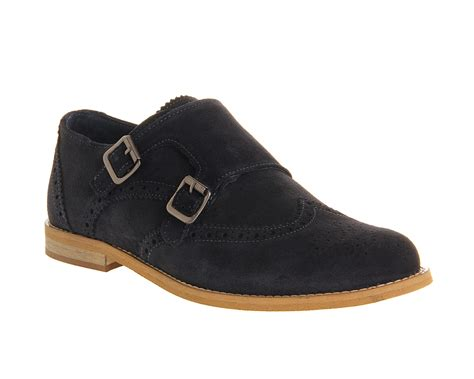mens ask the missus access monk navy suede formal