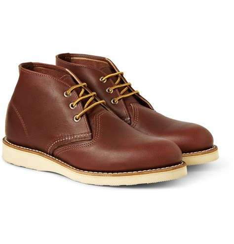 chukka work boots wing work chukka rubbersoled leather boots in brown