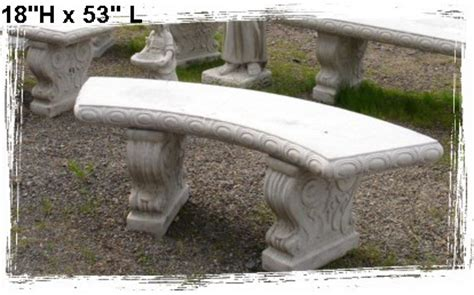 concrete curved bench concrete benches and tables little baja
