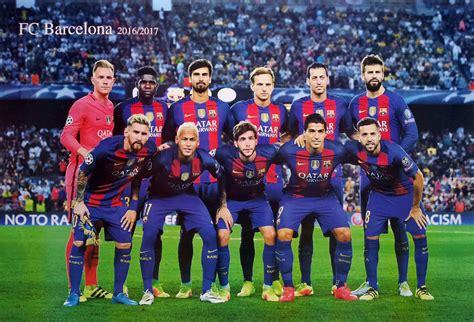 barcelona coach list barcelona fc 11 players 2016 2017 poster 23 x34 uefa