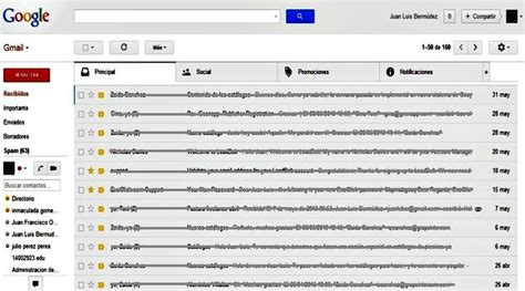 gmail bandeja de entrada ya podemos activar las nuevas pesta 241 as en la bandeja de gmail