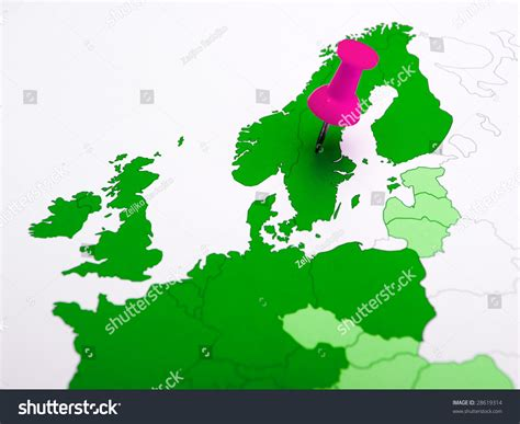 map northern europe scandinavia sweden northern europe scandinavia map stock photo