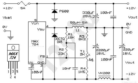 schemi alimentatori switching alimentatore switching 12v e 12v