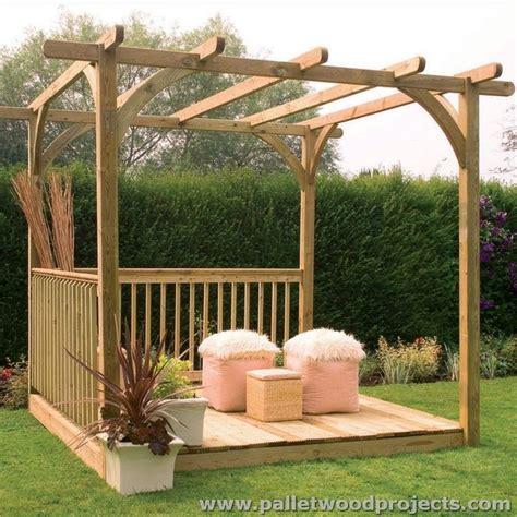 Garden Arbor Made From Pallets 25 Best Ideas About Pallet Pergola On Corner