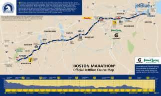 Boston Marathon Finish Line Map by Jonathan Farrell Boston Marathon