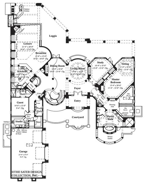 the curve floor plan home plan fiorentino sater design collection