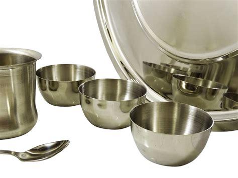 1set And Spoon Desert stainless steel dinner set plate bowls glass spoon dinnerware kitchen utensil ebay