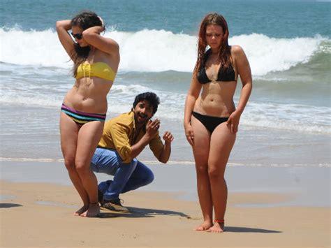 hot photos from goa beach komal kumar naughty bikini babes goa beach filmibeat