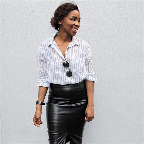 mbhele leather skirt lookbook