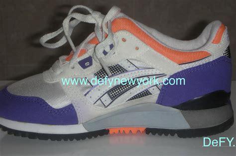 Sepatu Asics Gel Lyte Iii Original Asics Gel Lyte Iii 1991 White Orange Purple Original Review Defy New York Sneakers