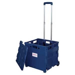 folding shopping cart home depot office depot brand mobile folding cart with lid 16 h x 18