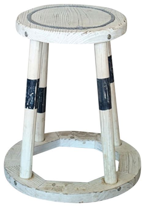 Coastal Style Bar Stools by Distressed Wood Stool Style Bar Stools And