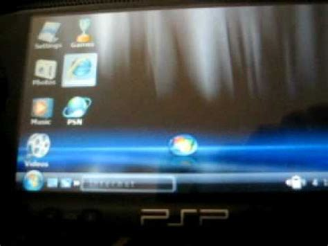 psp theme windows vista window s vista ctf theme on psp youtube