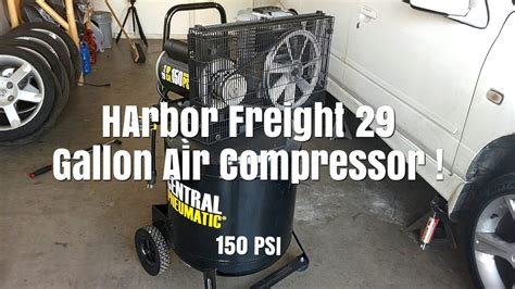 harbor freight  gallon air compressor unboxing set