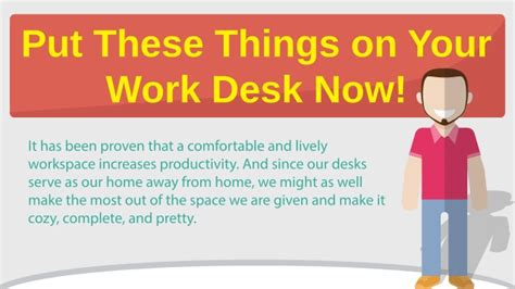 things to put on a desk put these things on your work desk now